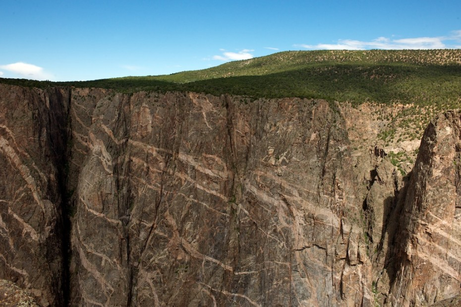 Black Canyon of the Gunnison National Park, Igneous Intrusion, Basalt Erosion River Cliff Steep