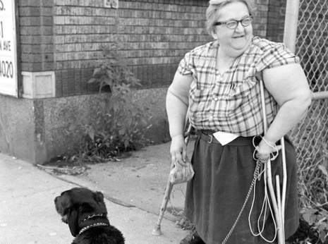 Female Dwarf and Dog. Image from Uptown in the mid-1970s.