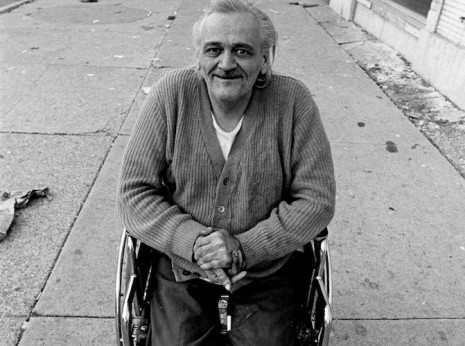 Image of an amputee in a wheelchair taken on the street in Chicago