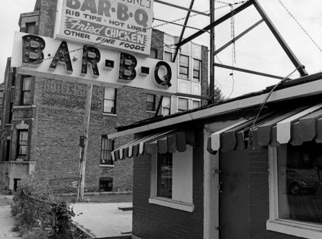 Barbecue restaurant in Uptown, 1974