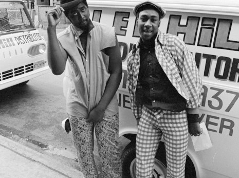Two men who worked for an exterminating service in Uptown, 1974.