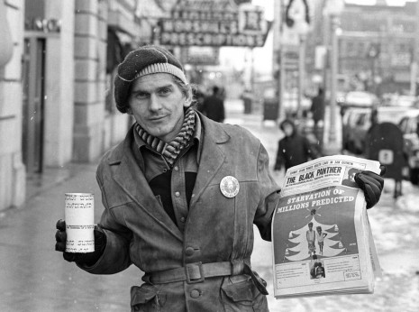 White Man Collecting for Black Panthers