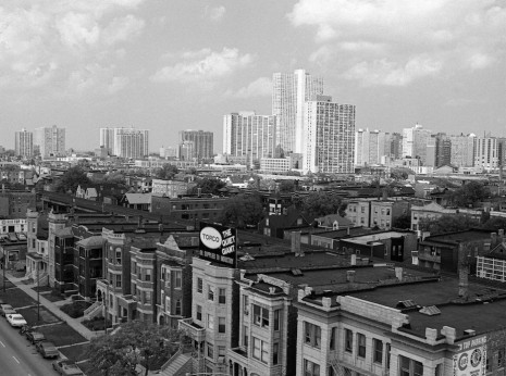 Uptown Skyline from Wrigley Field, 1975