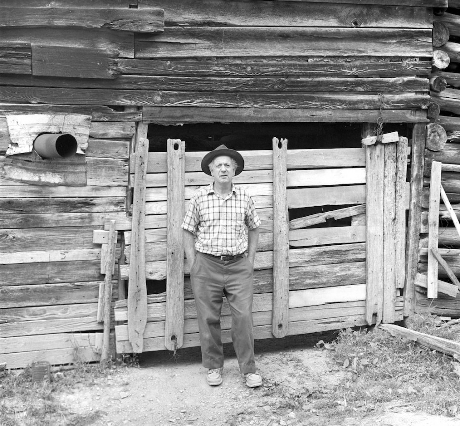Tennessee Man by His Barn