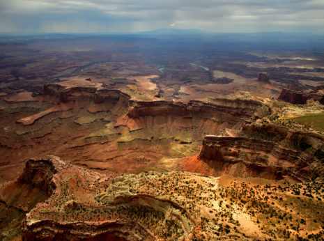 Heavy weather moving over Canyonlands National Park in Utah