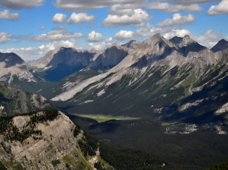 Mountain Valley Near Canmore, Alberta